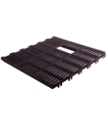 Cast iron slat 60x60 with hole