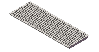 Placa calefacción revestida inox c/alas