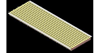 Placa calefacción polímero alas inox