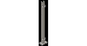 Poste cuadrangular bisagra inox