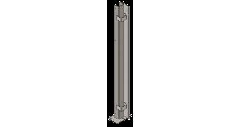 SST Quadrangular Pin Lock Post